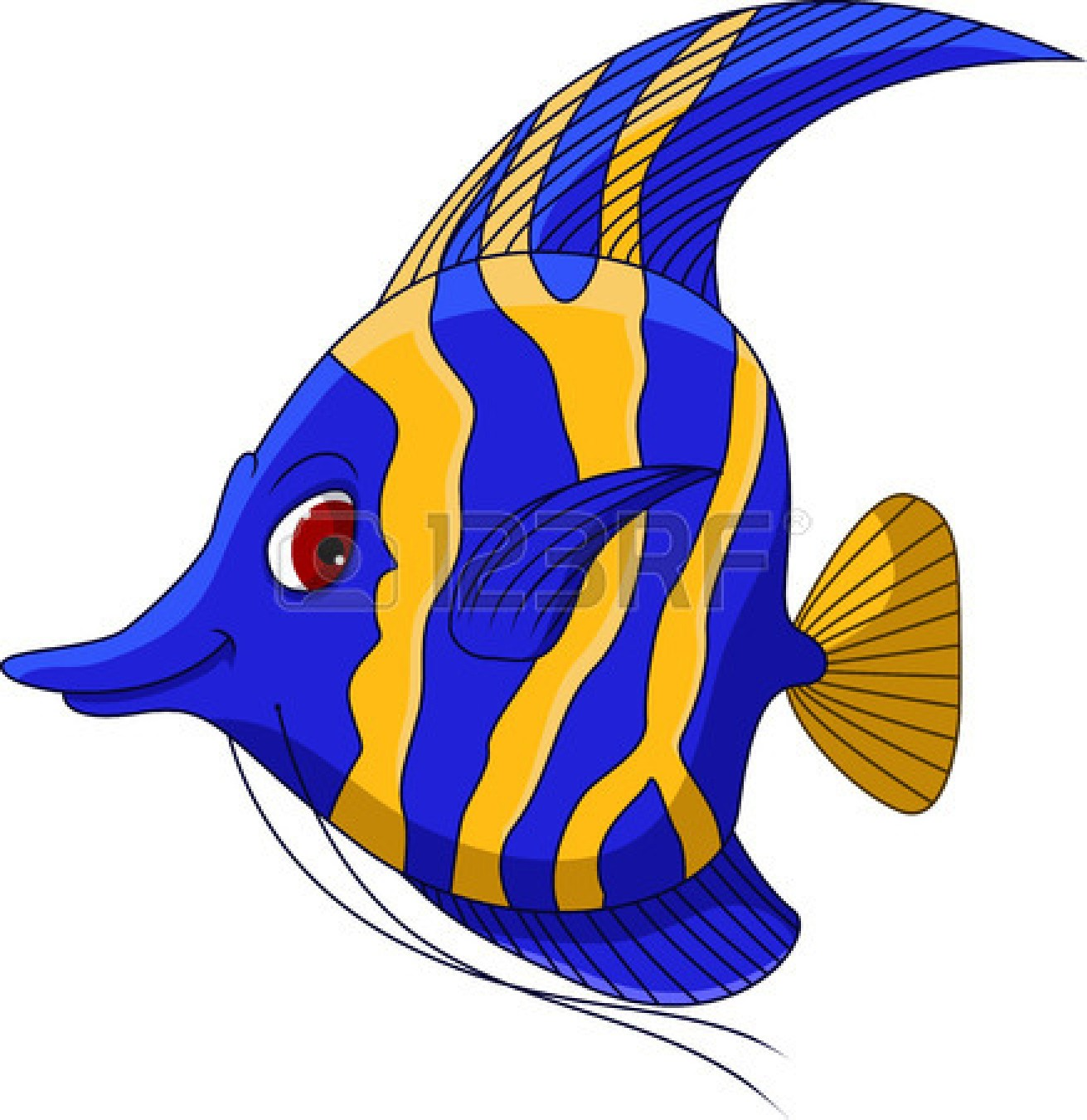 Drawn Angelfish Cartoon #5 - Angel Fish PNG HD