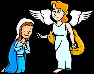 Mary and Gabriel - Angel Gabriel PNG