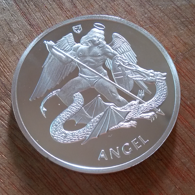 40mm Angel Silver Plated Souvenir Coin Medal UK(China) - Logo Angel  Souvenirs PNG - Angel Souvenirs Logo PNG