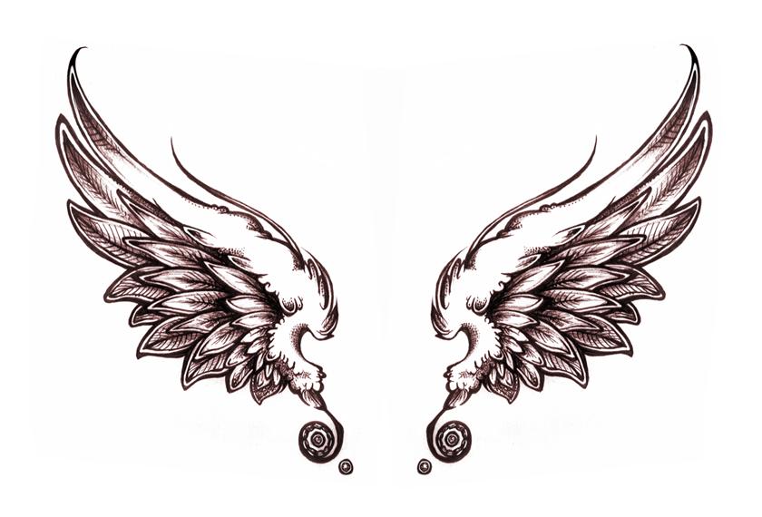 angel wings - Wings Tattoos PNG