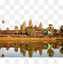 Angkor Wat in Cambodia, Angkor Wat In Cambodia, Landscape, Poster  Background PNG Image - Angkor Wat PNG