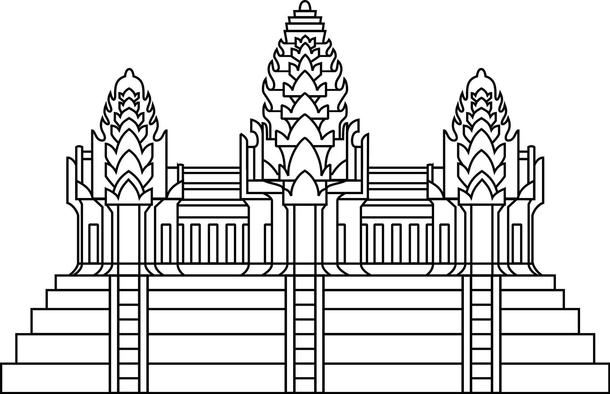 Open PlusPng.com  - Angkor Wat PNG
