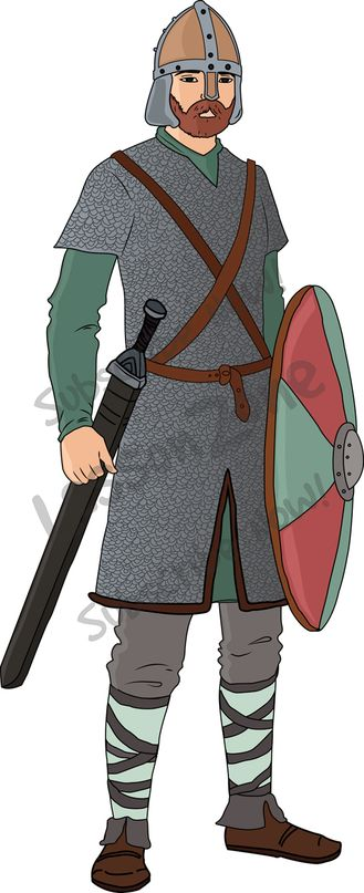 118168Z01_Clipart_Anglo_Saxon_Warrior01.  118168Z01_Clipart_Anglo_Saxon_Warrior01 - Anglo Saxons PNG