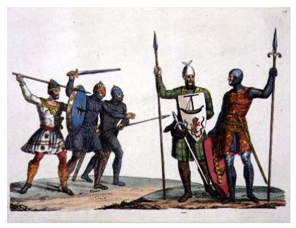 Anglo-Saxon warriors (Bridgeman Art Library) - Anglo Saxons PNG