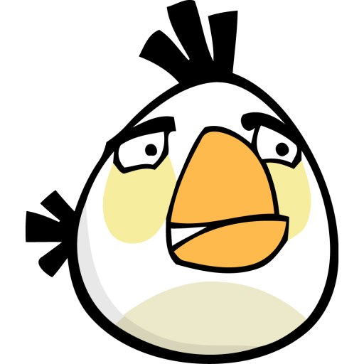 512x512px size png icon of angry bird white - Angry Birds HD PNG