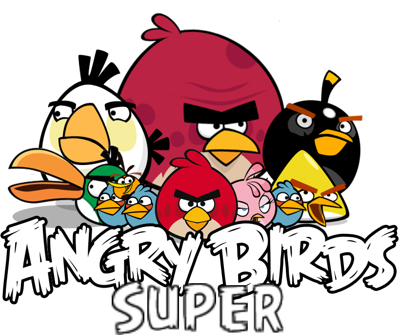 Angry Birds Super Logo.png - Angry Birds PNG