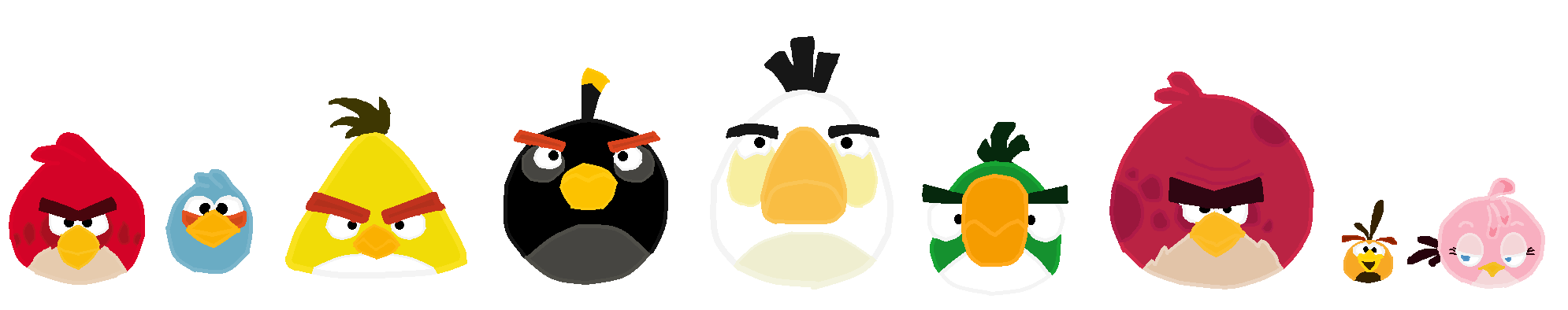 Angry birds the flock.png - Angry Birds PNG