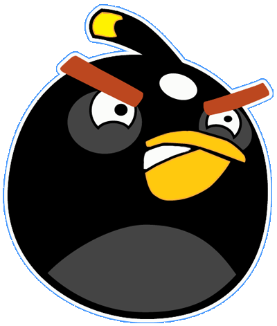 Black.png PlusPng.com  - Angry Birds PNG