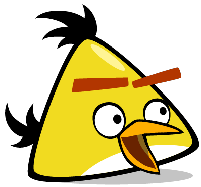 File:Surprised Chuck.png - Angry Birds PNG