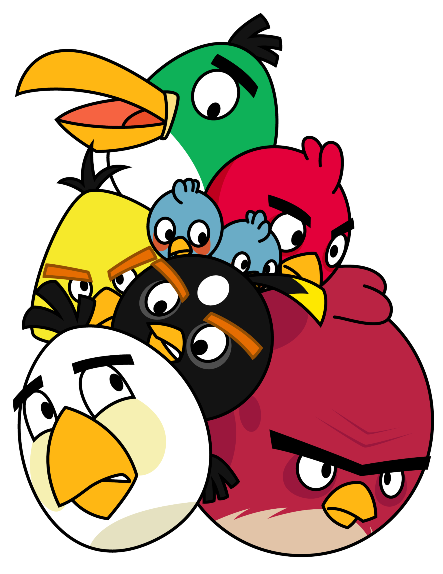 . PlusPng.com Pile of Angry Birds by Gav-Imp PlusPng.com  - Angry Birds PNG