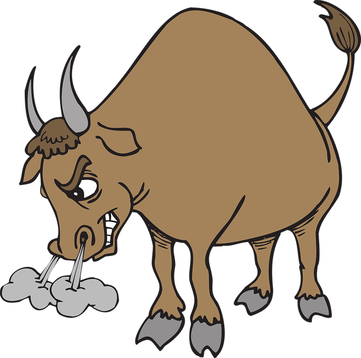 angry bull horns animal tail snorting - Angry Bull PNG
