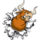 Bull Head Mascot royalty-free