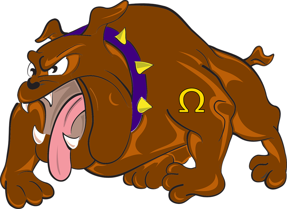 bulldog cartoon angry dog attacking animal - Angry Dog PNG HD