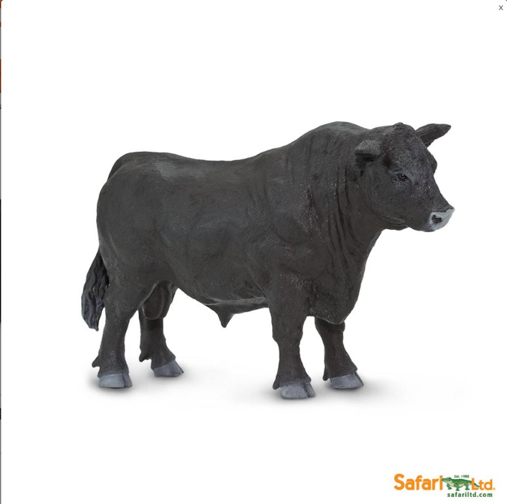 Safari Ltd. - Safari Farm - Black Angus Bull - Angus Bull PNG