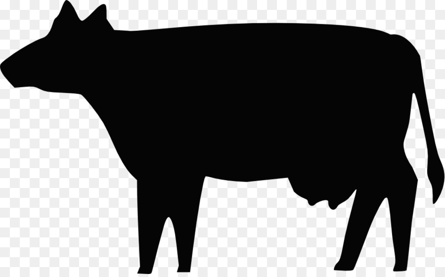 Angus cattle Beef cattle Silhouette Clip art - Cow Outline - Angus Cattle PNG