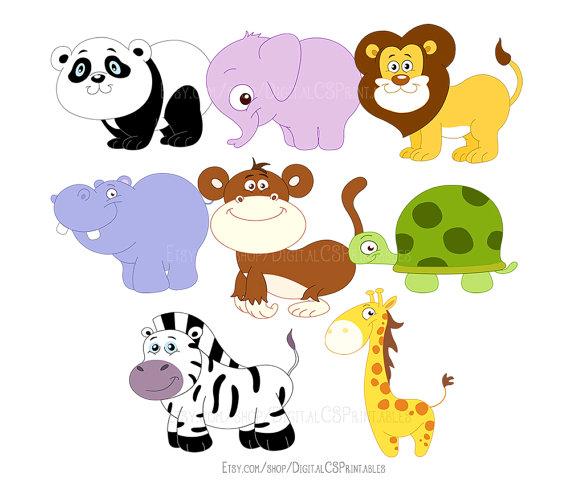 Safari Animal clipart Cute Animal clipart Cute clipart Kids clipart animal  png Wild animals kids clip art Cute clip art - Animal PNG HD For Kids