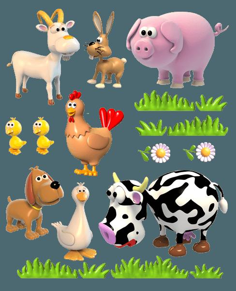 Stickers for Kids: Farm anima