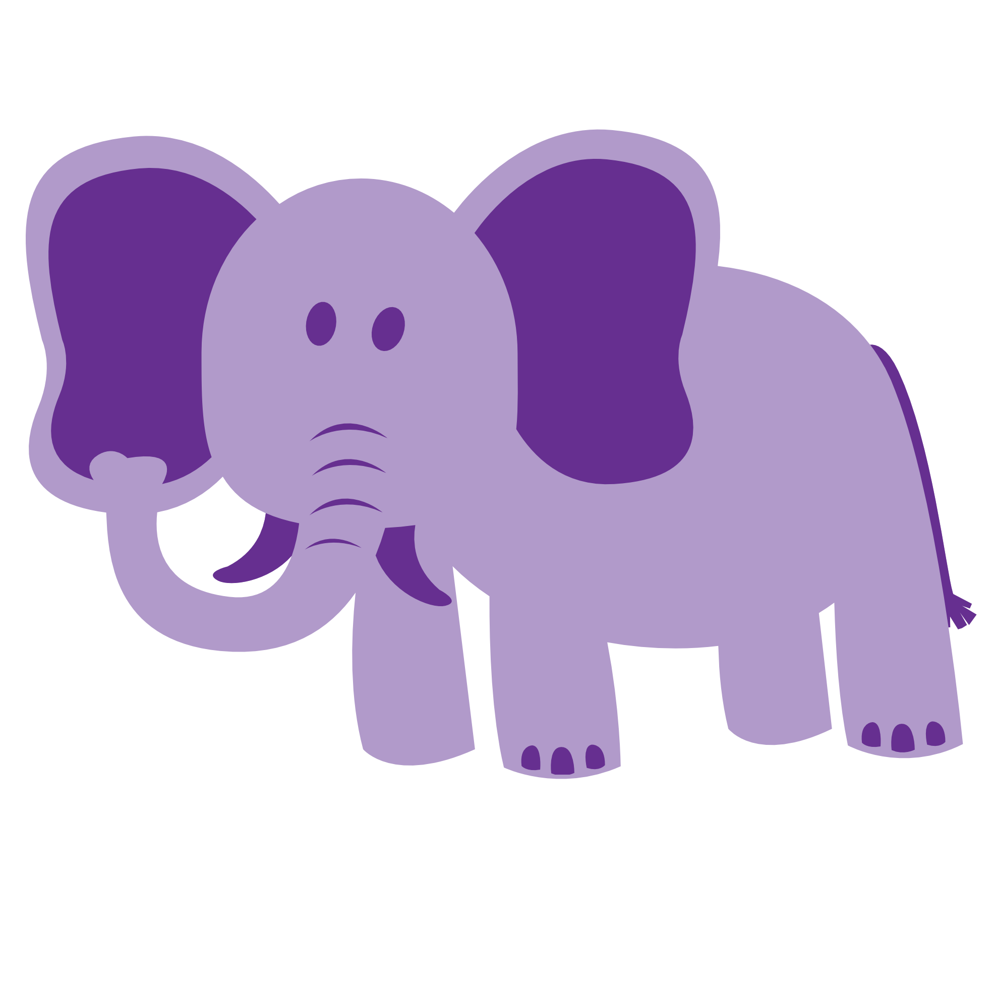 . PlusPng.com Colorful Animal Elephant Geometry 1969px.png 116(K) - Animal Vector PNG