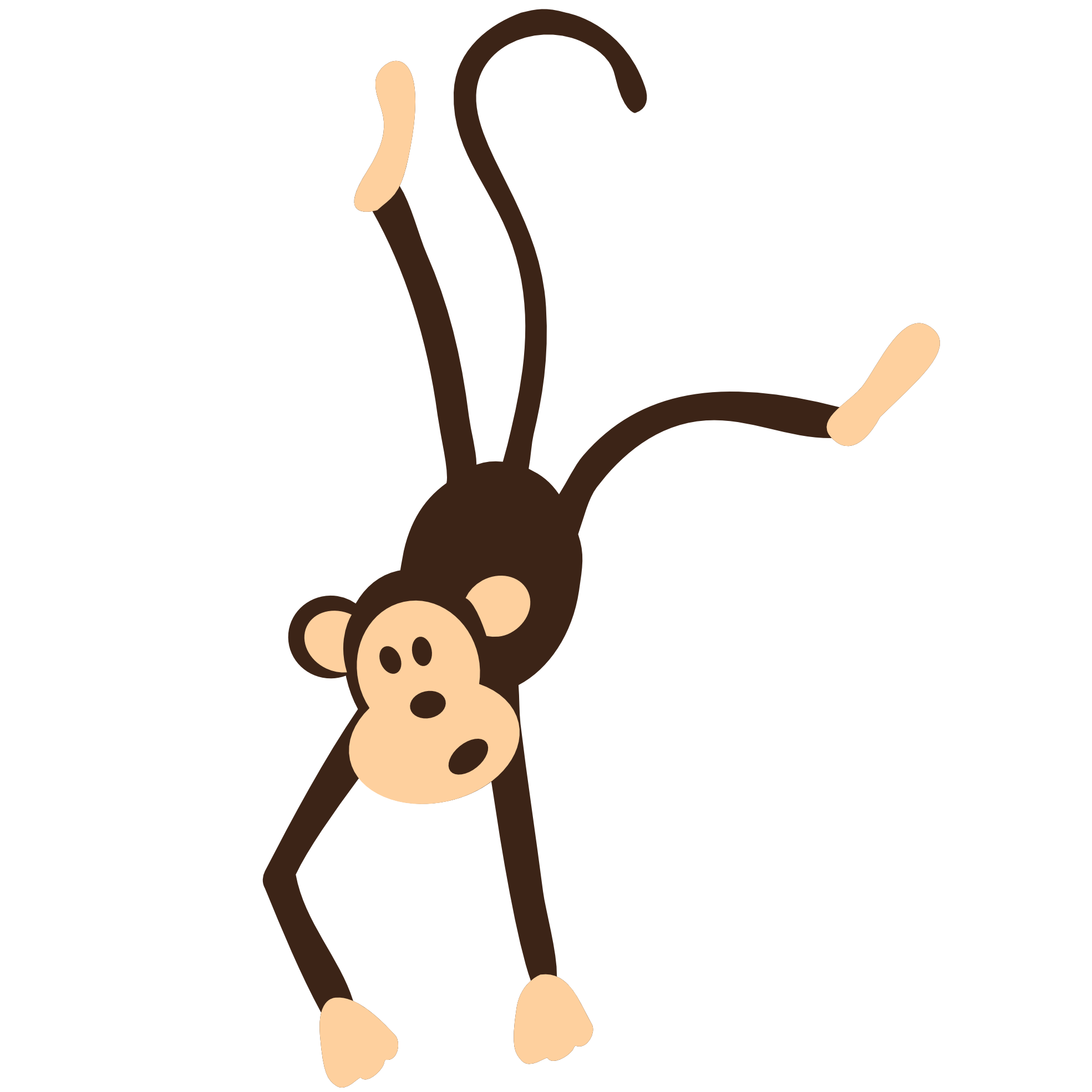 . PlusPng.com Colorful Animal Monkey Geometry 1969px.png 103(K) - Animal Vector PNG