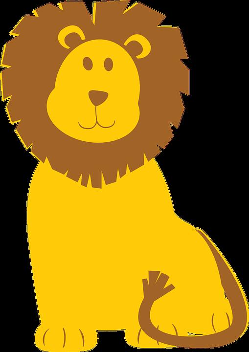 Lion, Brown, Yellow, Animal, Wild, Mammal, Nature - Animal Vector PNG
