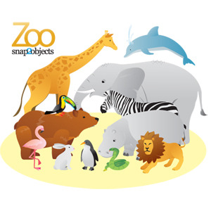 12 Free Vector Zoo Animals - Animals At The Zoo PNG