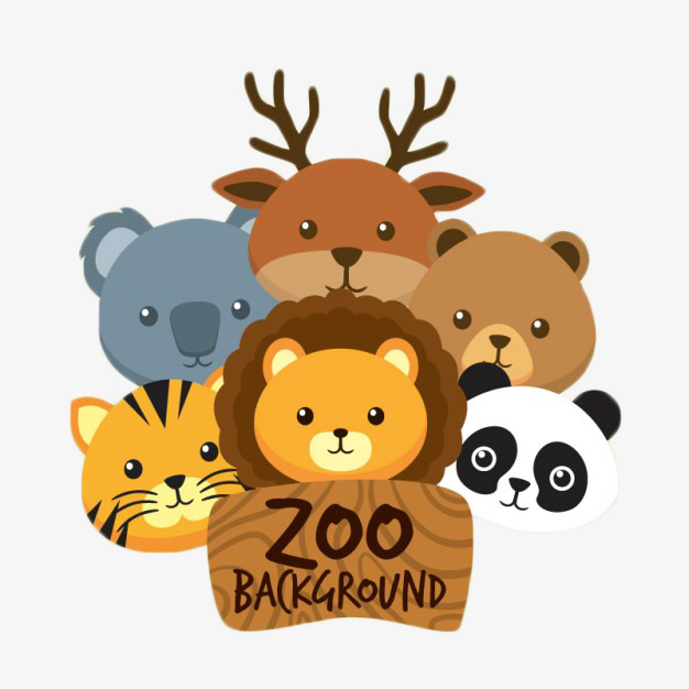cartoon painted animal hospital, Animal, Zoo, Cartoon PNG Image and Clipart - Animals At The Zoo PNG
