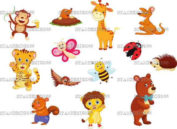 Digital SVG PNG JPG Animals, forest animals, cute animals, woodland animals,  zoo safari jungle, clipart, vector, template, instant download from PlusPng.com  - Animals At The Zoo PNG