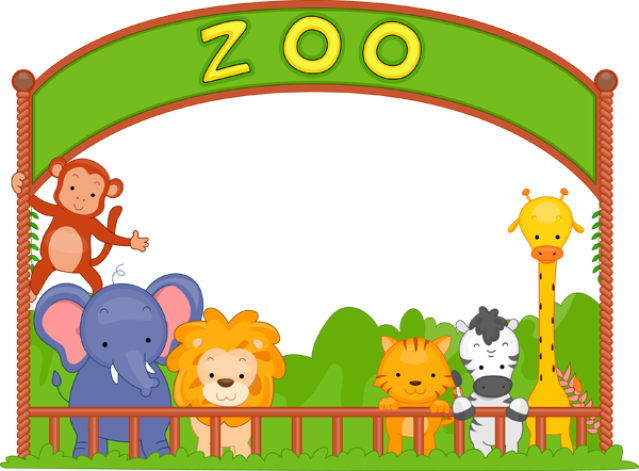 Wonderful clip art of animals that live in a zoo. - Animals At The Zoo PNG