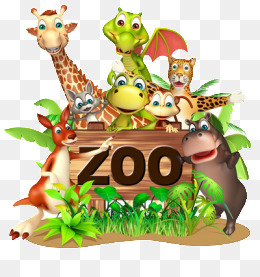 zoo animals, Green, Leaf, Giraffe PNG Image and Clipart - Animals At The Zoo PNG