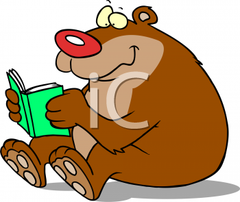 animals reading clip art - Animals Reading PNG HD