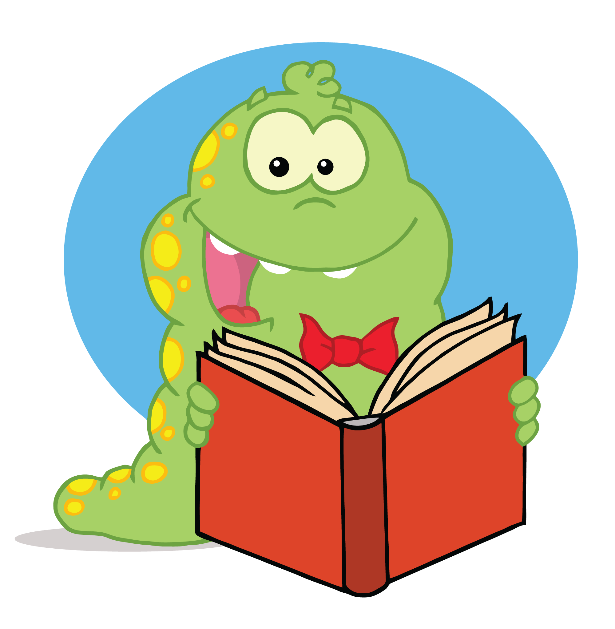 animals reading clipart - Animals Reading PNG HD