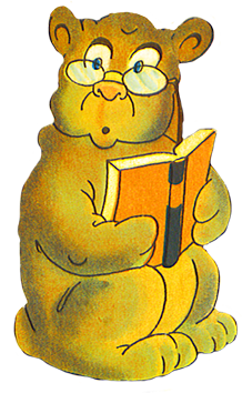 cow with milkcan, Reading bear with glasses - Animals Reading PNG HD