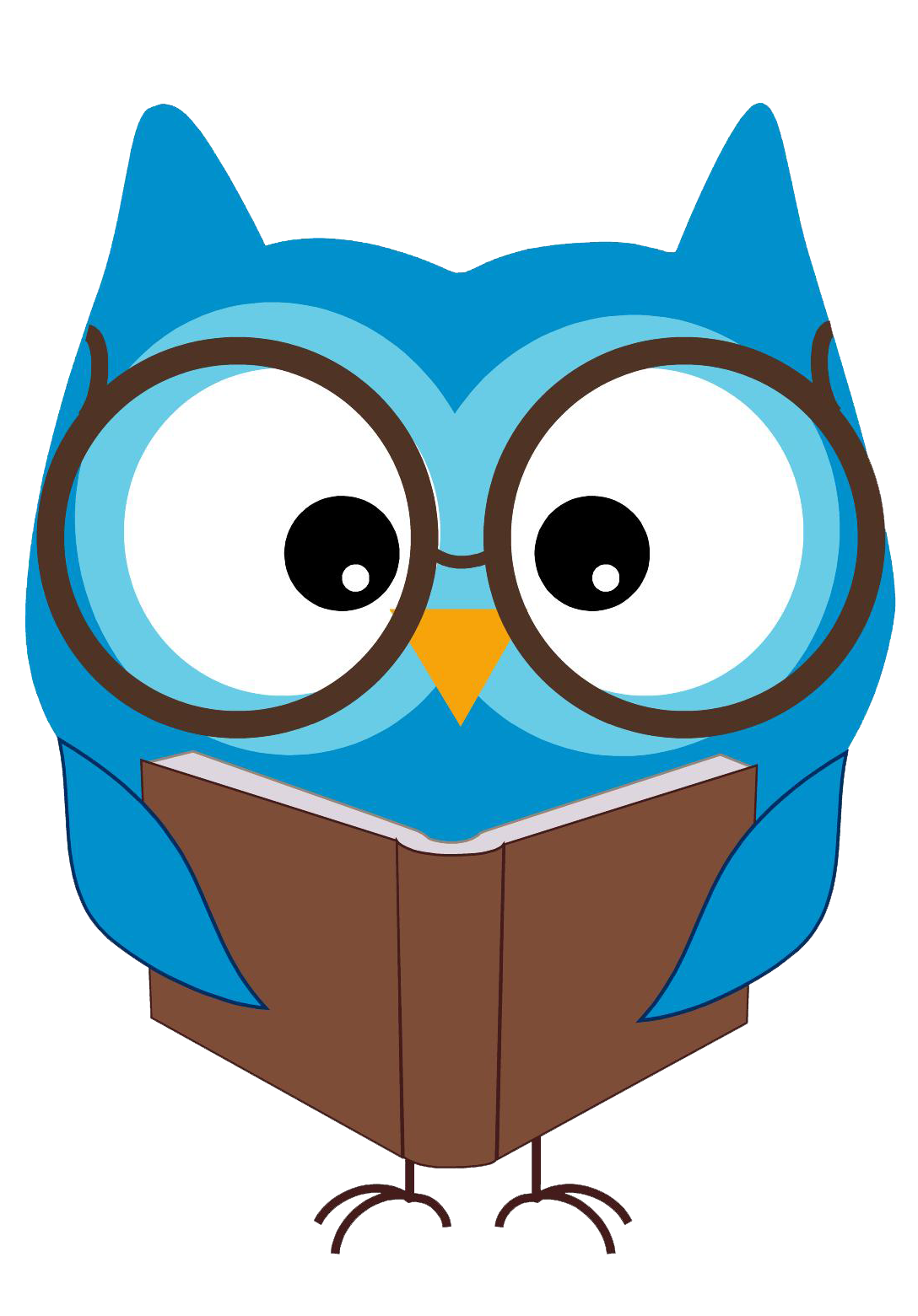 Free Reading Clip Art of Reading owl clip art image for your personal  projects, presentations or web designs. - Animals Reading PNG HD