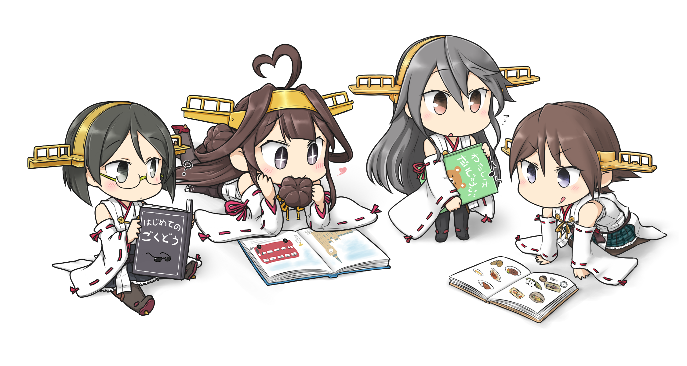 Kantai Collection Full HD Wallpaper and Background Image | 2250x1200 |  ID:714581 - Cute - Animals Reading PNG HD