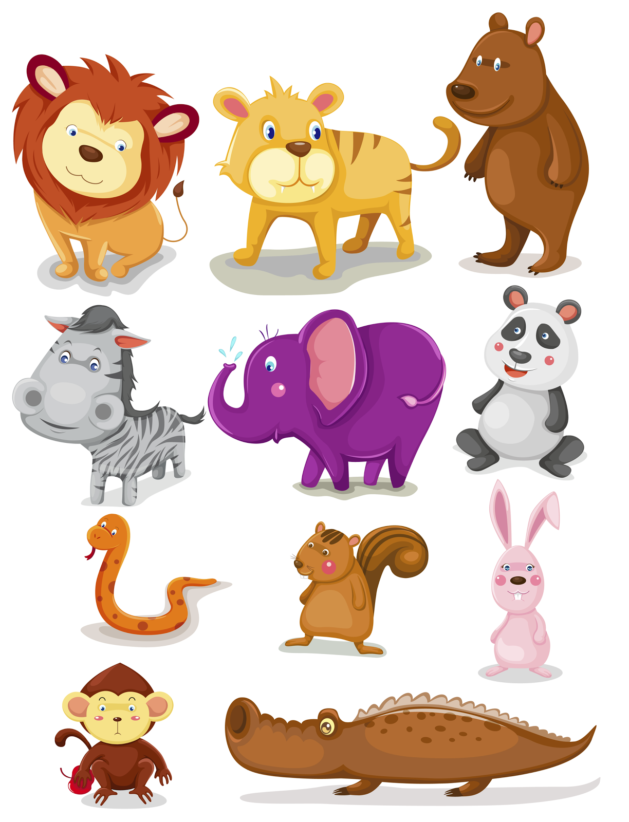 Nice Animal Pics For Kids 12 - Animal PNG HD For Kids - Animals Reading PNG HD