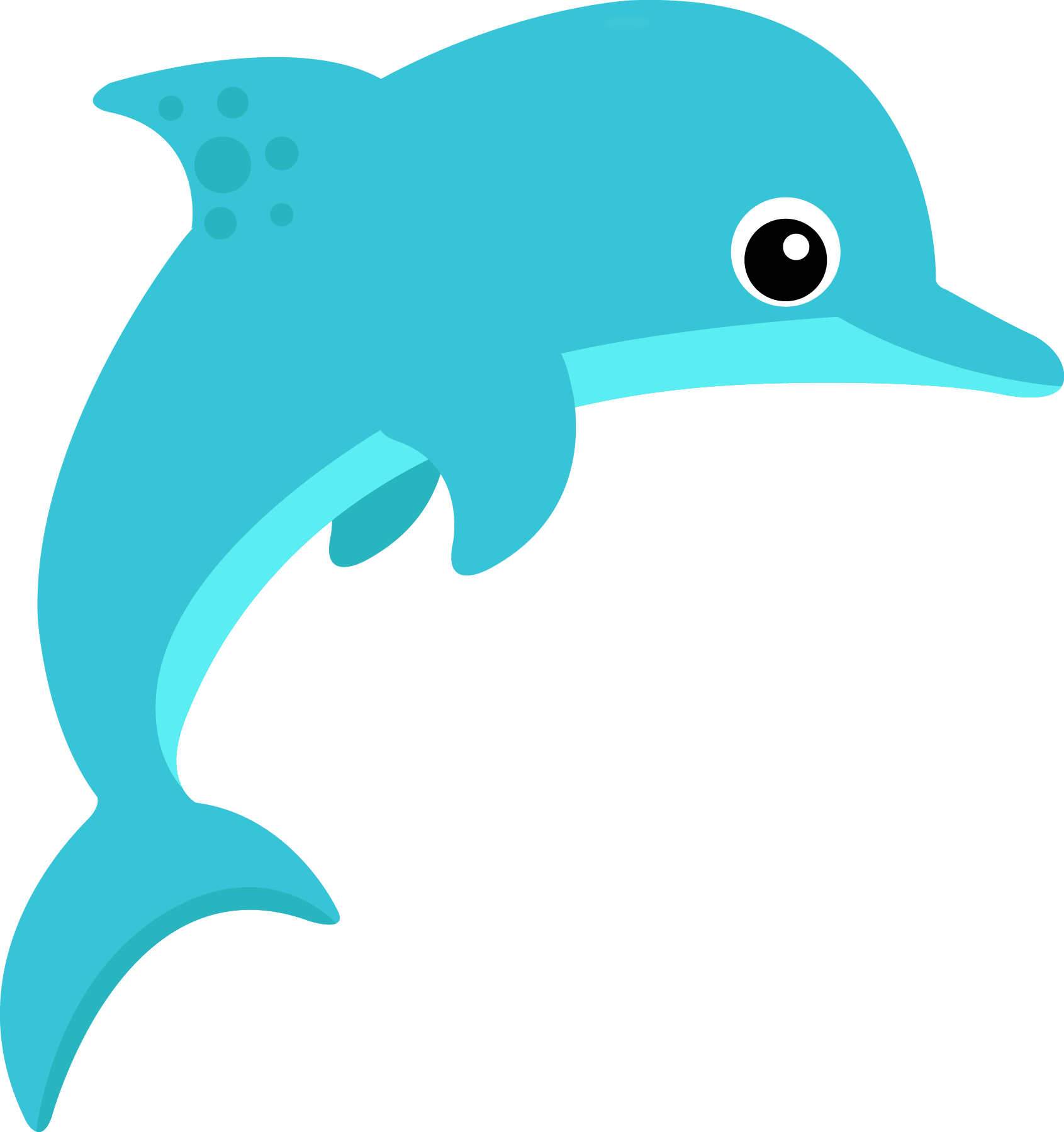 pin Dolphines clipart ocean animal #7 - PNG Ocean Animals - Animals Reading PNG HD