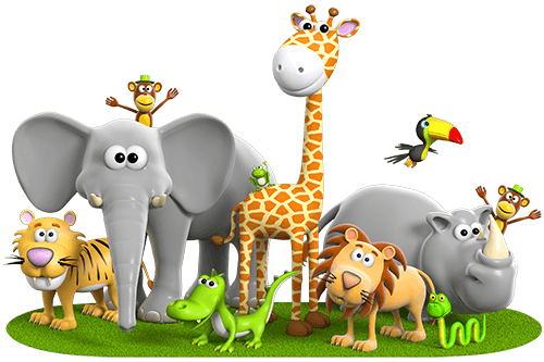Stickers for Kids: Jungle Animals - Animal PNG HD For Kids - Animals Reading PNG HD