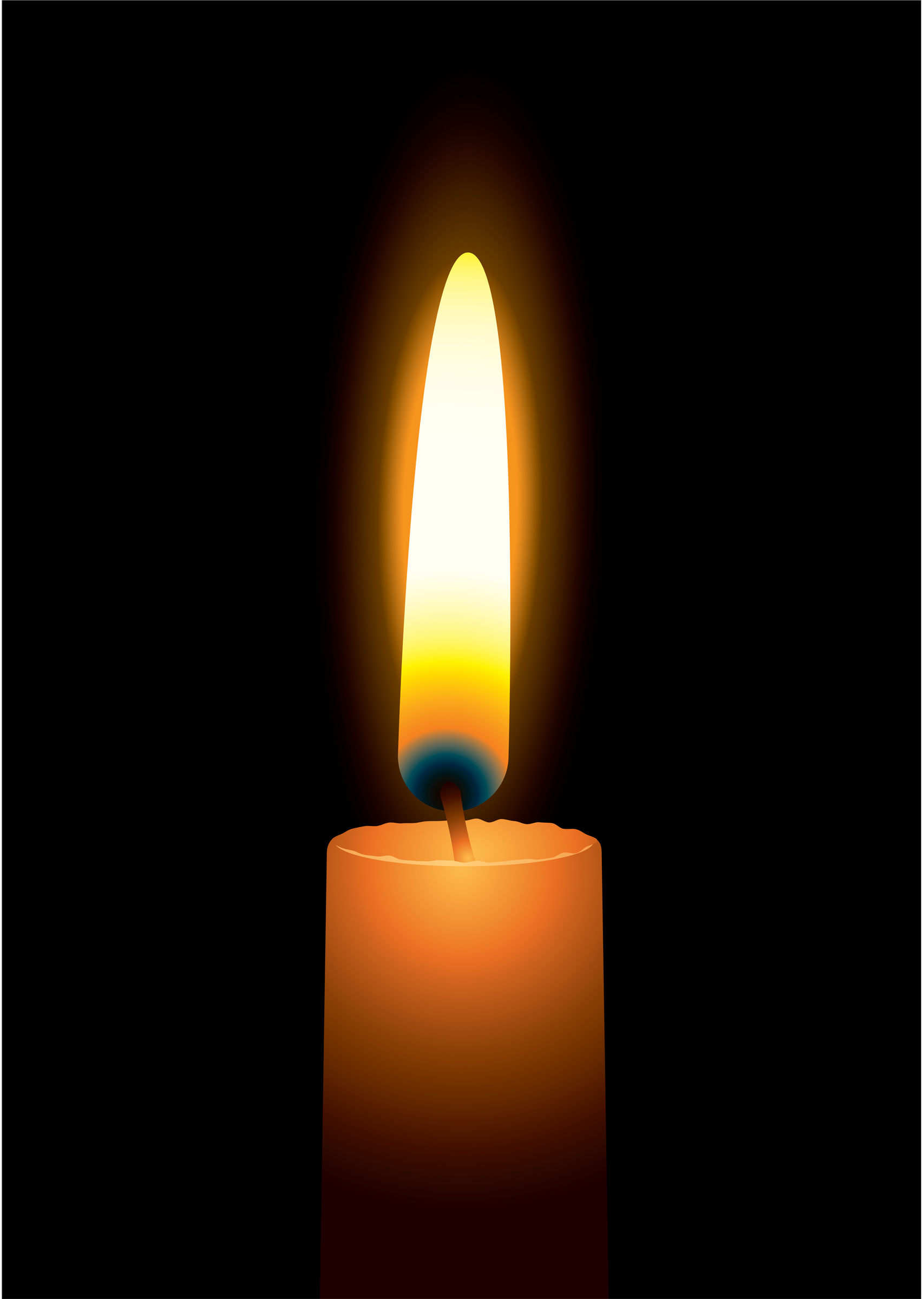 Animated Candle Flame Gif Clipart - Candle PNG