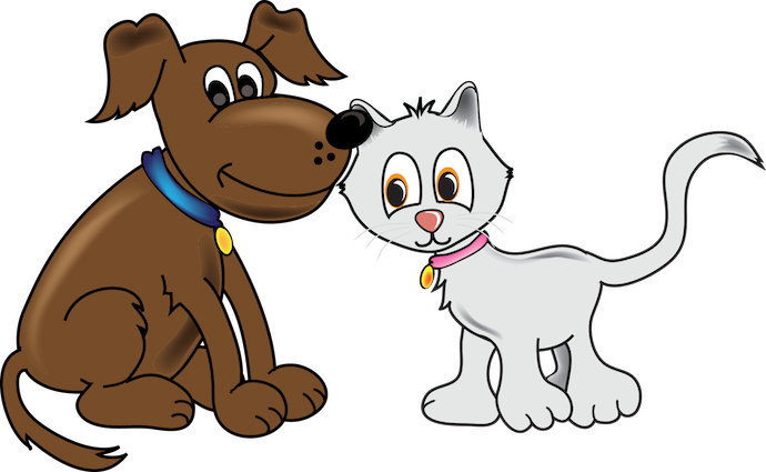 Cartoon Cats And Dogs - Animated Dog PNG HD