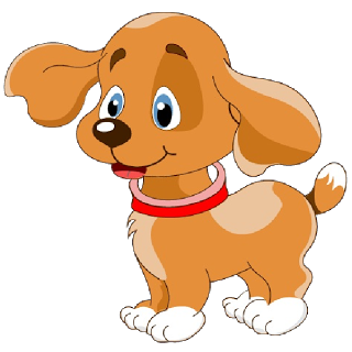 Cute Dog Clipart Image - Animated Dog PNG HD