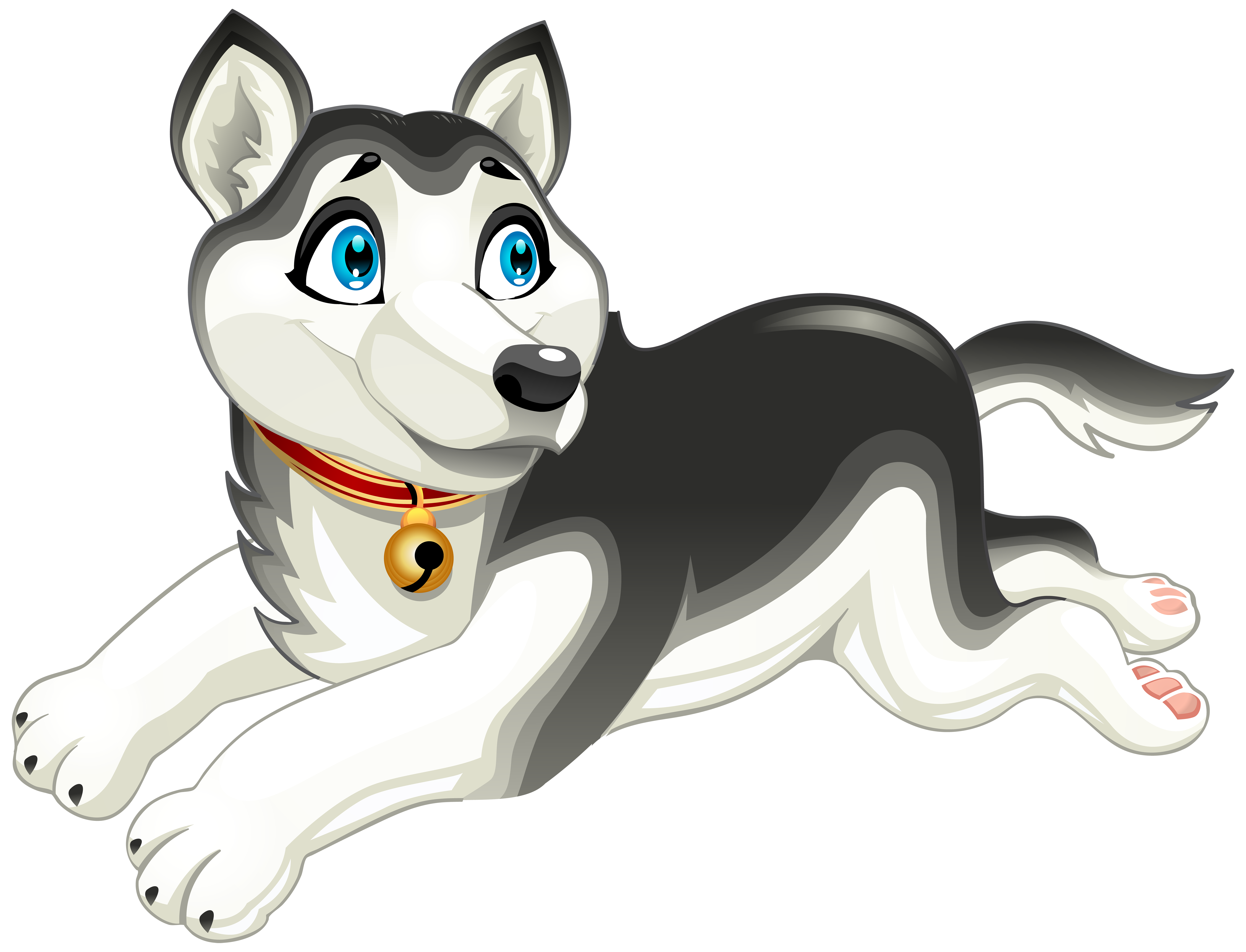 Husky Dog Cartoont PNG Clip Art Image - Animated Dog PNG HD