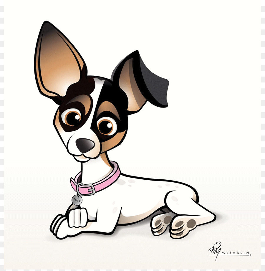 Jack Russell Terrier Chihuahua Puppy Cartoon Clip Art - Animated Dogs - Animated Dog PNG