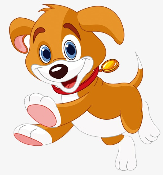 puppy, Cute Cartoon, Small Brown Dog PNG Image and Clipart - Animated Dog PNG