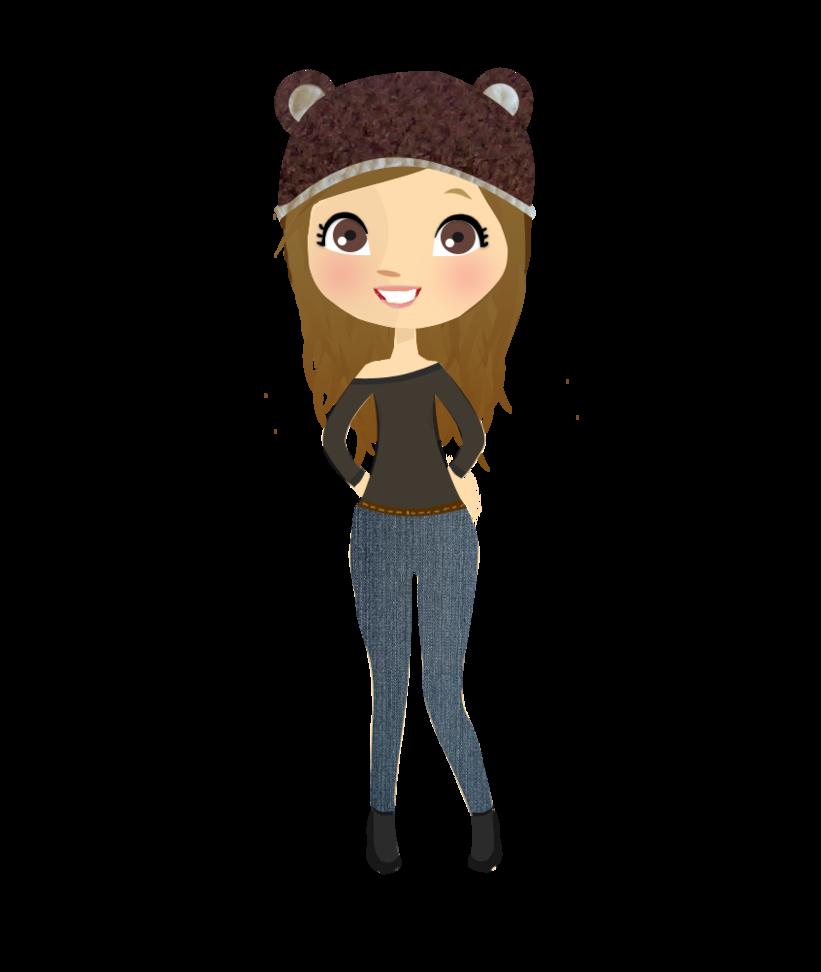 Bear Girl Doll - Nena. Png - Animated Girl PNG