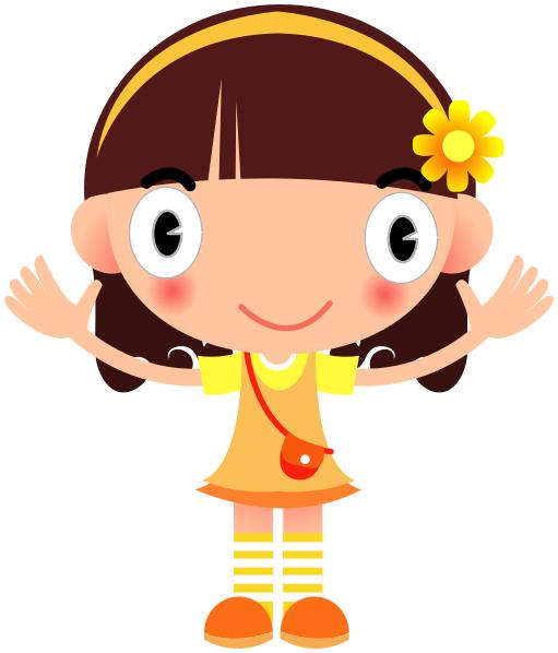 Big Smile Girl In Yellow - Animated Girl PNG