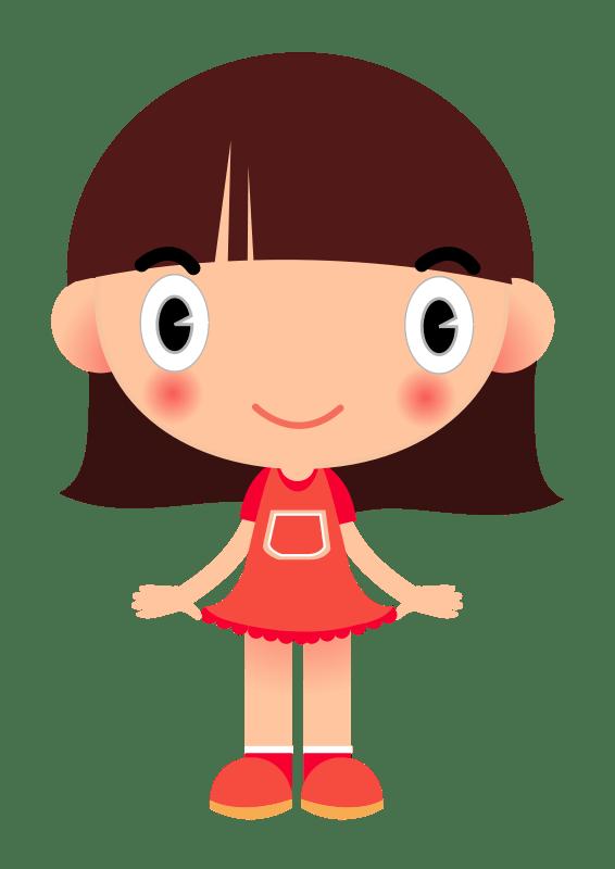 Cartoon Girl Dress - Animated Girl PNG