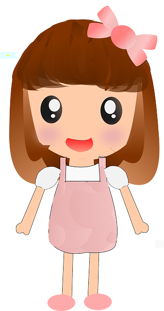 Cute Cartoon Girl PNG Image - Animated Girl PNG