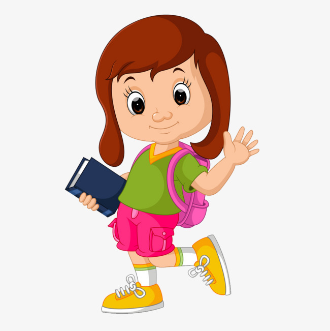 school girl, Cartoon, Jane Pen, Girl PNG Image and Clipart - Animated Girl PNG
