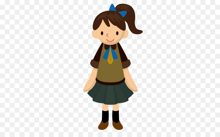 Student Girl Cartoon - Middle School Girls - Animated Girl PNG