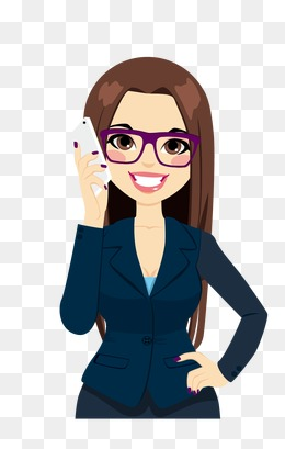 Vector Girl, Call Girls, Cartoon Beauty, Vector Girl PNG And Vector - Animated Girl PNG